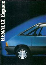 Renault Espace 1986-87 UK Market Sales Brochure GTS TSE