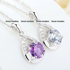 Geschenke für Sie 925er Silber Kristall Diamant Halskette Weihnachten Mutter