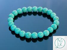Turquoise Howlite Dyed Natural Gemstone Bracelet 7-8'' Elasticated Healing Stone