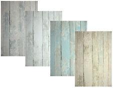 Vlies Tapete Antik Holz rustikal grau beige toop blau türkis bretter verwittert