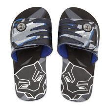 Disney Store Black Panther Sandals Flip Flops Kids Size 7/8 9/10 11/12 13/1 2/3