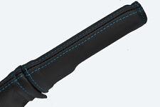 Azul costura se adapta a Fiat Punto Mk1 93-99 Freno De Mano Mango De Cuero cubierta sólo