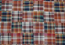 Three Chickadees Cotton Patchwork Madras Fabric by the Yard ~ Saugatuck Valley