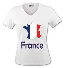 T-shirt Femme Carte France - drapeau français - du S au XL