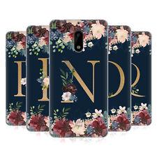 Carácter oficial Magick Floral Monograma oro Navy 2 Gel caso para teléfonos Nokia 1