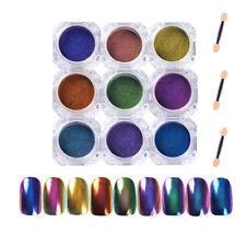 Nail Art Dust Glitter Powder Pods Neon Chameleon Chrome Effect Magic Mirror Nail