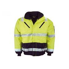 Pilotenjacke neongelb/marine Arbeitsjacke Winterjacke Pilotenwarnschutzjacke