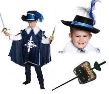 PIRAT MUSKETIER KOSTÜM PIRATENKOSTÜM HUT Degen Maske Säbel Schwert Blau 98-152
