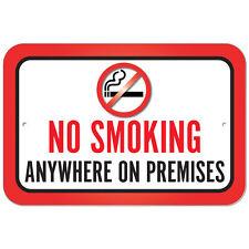 Plastic Sign No Smoking Anywhere On Premises