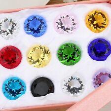 Glasdiamant 3cm bunt Glaskristall Diamant Glas Kristall Feng Shui Tischdekor
