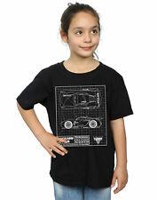 Disney niñas Cars Jackson Storm Blueprint Camiseta