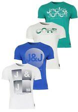 Jack&Jones Camiseta Hombres jjcoshine Tee Cuello Redondo Manga Corta Informal