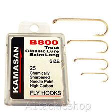 Kamasan B800 Classic Trout Lure Fly Tying Hooks - Extra Long Shank - Choose Size