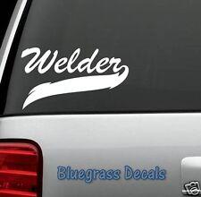 D1026 WELDERS WELD DECAL STICKER CAR TRUCK SUV VAN WELDER ROD HELMET ARC TORCH