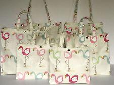 Nikki's Original Totes Handmade Cotton Oilcloth Bags Pretty Flamingo in Pastels