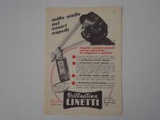 advertising Pubblicità 1956 BRILLANTINA LINETTI