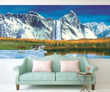 3D Mountain Waterfall 802 Wallpaper Mural Paper Wall Print Wallpaper Murals UK