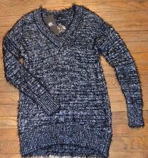 Rock & Republic VNeck ULTRA SOFT Sweater Silver Reliquary Rose Metallic MSRP $60
