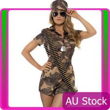 Smiffys Ladies Army Top Gun Flight Combat Girl Military Police Soldier Costume