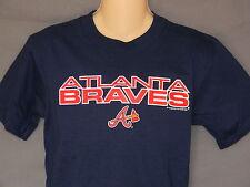 NEW Atlanta Braves T-Shirt BOYS Size Large 14/16 Short Sleeve Shirt Pullover