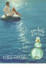 PUBLICITE 1996   LORIS AZZARO eau de parfum EAU BELLE