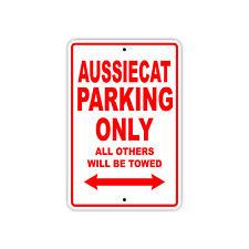 Aussiecat Parking Only Boat Ship Art Notice Decor Novelty Aluminum Metal Sign