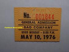 BAD COMPANY 1976 GLOBE Concert Ticket Stub PORTLAND OREGON Free THE FIRM Rare