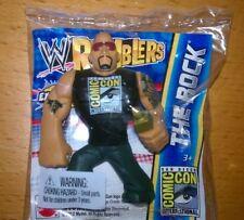 SDCC 2012 EXCLUSIVE WWE THE ROCK RUMBLER (2) MINI PROMO'S FIGURE AUCTION COMES
