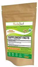 USDA Organic 100% PURE Ashwagandha Root Powder Withania Somnifera Indian Ginseng