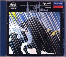 Neville MARRINER Signed TIPPETT Double Concerto Corelli Fantasia Little Music CD
