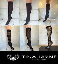 ladies lace, black pop socks, knee highs,trouser socks one size