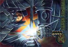 X-MEN FLEER ULTRA 1995 HOLO RELIEF N°  76 SILVER SAMURAI