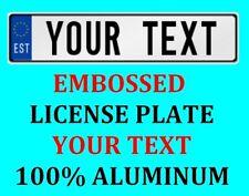 Estonia Estonian European Euro License Plate Number Plate Custom Text Customized