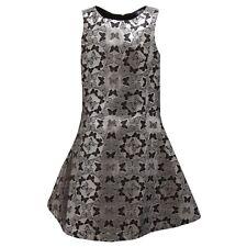 7519S abito bimba ARMANI JUNIORS fantasia nero/argento dress kid