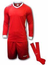 Ichnos adult size mens football team kit shirt shorts socks red / white
