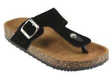 ANNA Women's Glory-400N T-strap Slip on Flat Thong Sandals