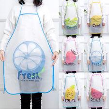 1PC Home Apron Cartoon Fruit Semi Transparen Practical Cooking Anti-oil Apron