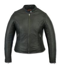 Women's Stylish Lightweight Moto Biker Apparel Motorcycle Leather Jacket DS843
