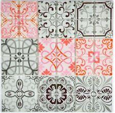 Retro Vintage Mosaik Fliese Transluzent grau rot Glas FRANCE 68-Retro-F_b|1Matte