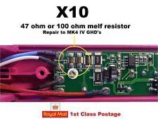 10 x GHD Mk4 R8 / R11 Melf Resistor 100 or 50/47 Ohm (hair straightener repair)