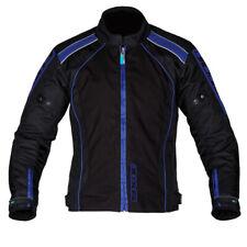 Spada Plaza Textil Impermeable Chaqueta de Tela Motocicleta - Negro Yamaha Azul