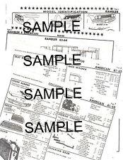 1961 1962 1963 RAMBLER AMERICAN BODY PARTS LIST FRAME CRASH SHEETS $