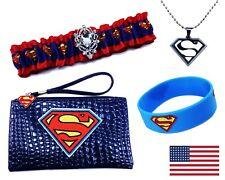 Sexy Superman 4pc Womens Juniors Halloween Costume Accessories Set 2 Sizes