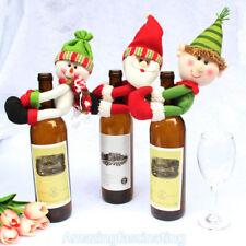 Noël Fée Père Noël Ornement vin Bouteille cache Lit de bébé Poussette Fête  Décor 854ecb31149