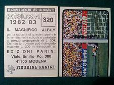 CALCIATORI 1982-83 82-1983 n 320 NAZIONALE - Figurina Panini Sticker NEW