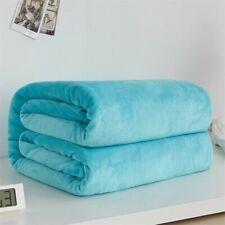 Fleece Blanket Winter Sheet Bedspread Sofa Plaid Throw Flannel Blankets Textiles