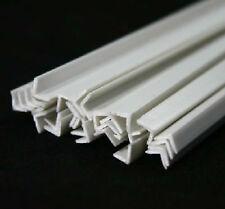 5-100pcs ABS Styrene Plastic L Shape Right Angle Bars 4mm*4mm*250mm White