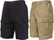 Lightweight Tactical BDU Cargo Shorts 6-Pocket Uniform Military Army Cotton
