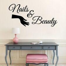 Nail Salon Vinyl Wall Decal Manicure Wall Sticker Beauty Salon Nail Bar Window