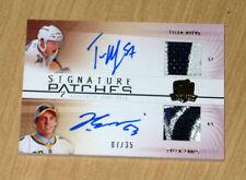 09-10 UD Cup autograph patch Tyler Myers/Ennis 7/35